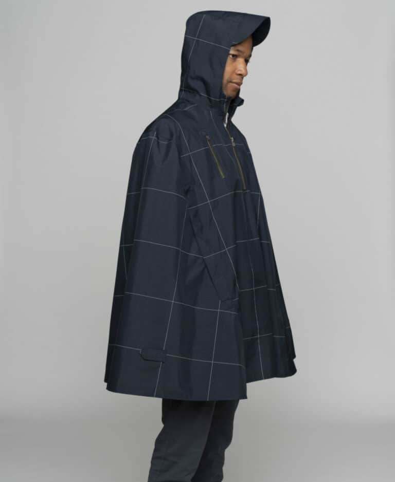The Cleverhood cycling rain cape is the perfect apparel for wet rides around town