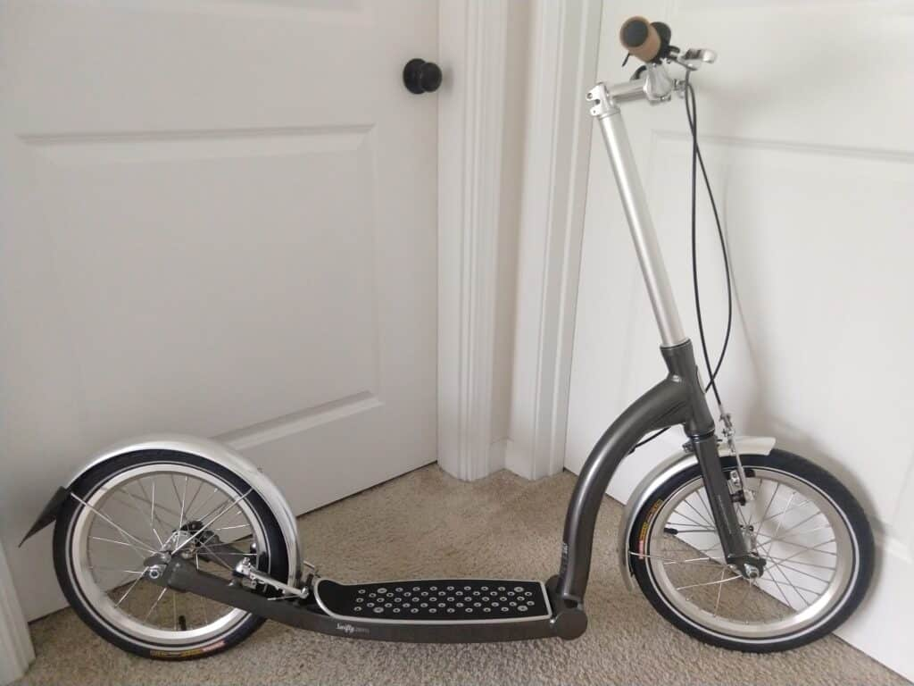 New Swifty Zero scooter after assembly