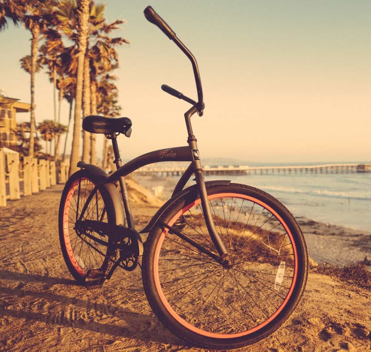 Beach cruiser bicycles offer a fun, relaxing ride and smooth and straight terrain